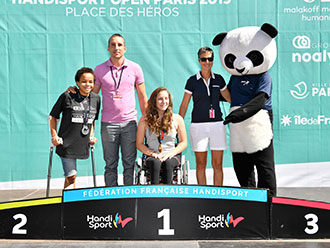 supporting para athletics event in Paris